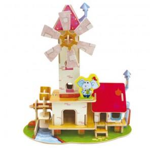 Мельница 3D Пазлы Деревянные Robotime