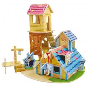 Дом знаний 3D Пазлы Деревянные Robotime