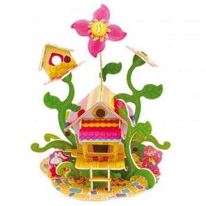 Цветочный домик 3D Пазлы Деревянные Robotime
