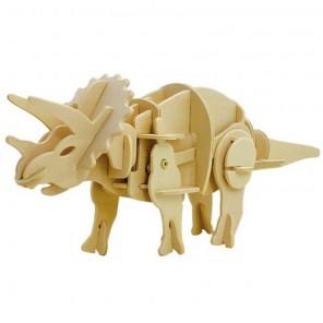 Трицераптос (на батарейках) 3D Пазлы Деревянные Robotime