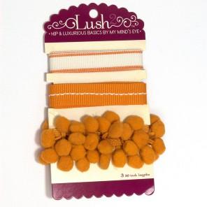 Оранжевые Ленты для скрапбукинга, кардмейкинга Lush2 My Mind's Eye ( MME )