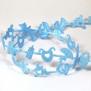 Голубая детская Лента декоративная для скрапбукинга, кардмейкинга
