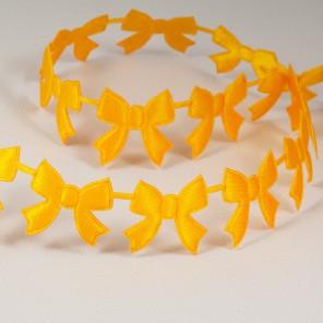 Желтые бантики Лента декоративная для скрапбукинга, кардмейкинга
