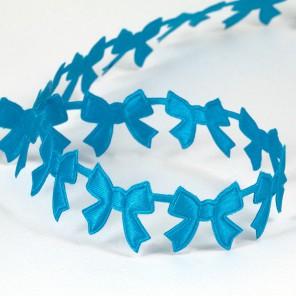 Синие бантики Лента декоративная для скрапбукинга, кардмейкинга
