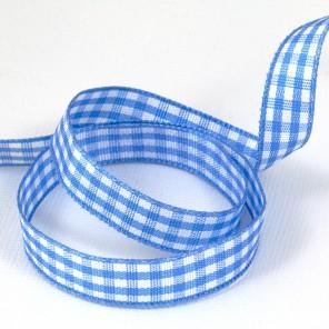 Голубая шотландка Лента декоративная для скрапбукинга, кардмейкинга