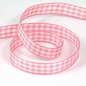 Розовая шотландка Лента декоративная для скрапбукинга, кардмейкинга