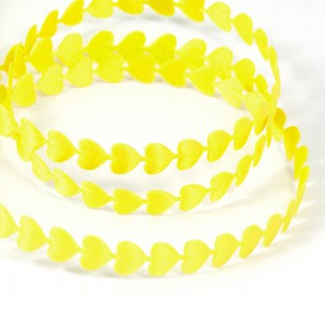 Желтые сердечки Лента декоративная для скрапбукинга, кардмейкинга