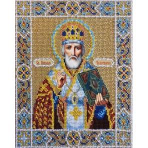 Святой Николай Чудотворец Набор для частичной вышивки бисером Паутинка