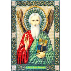 Святой Андрей Первозванный Набор для частичной вышивки бисером Паутинка