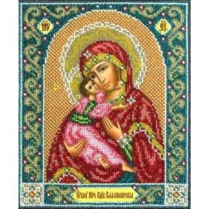 Владимирская Богородица Набор для частичной вышивки бисером Паутинка