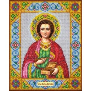 Святой Пантелеимон Набор для частичной вышивки бисером Паутинка