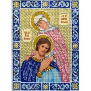 Святые Петр и Феврония Набор для частичной вышивки бисером Паутинка