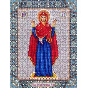 Богородица Нерушимая стена Набор для частичной вышивки бисером Паутинка