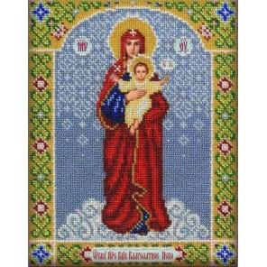 Богородица Благодатное небо Набор для частичной вышивки бисером Паутинка