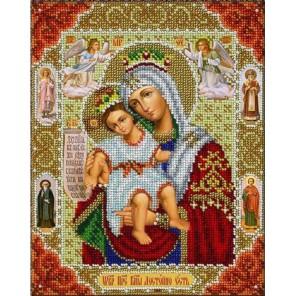 Богородица Достойно Есть (Милующая) Набор для частичной вышивки бисером Паутинка