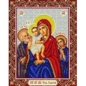 Богородица Трех радостей Набор для частичной вышивки бисером Паутинка