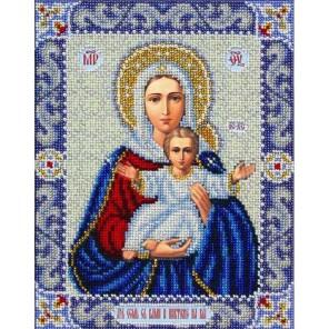 Богородица Леушинская Набор для частичной вышивки бисером Паутинка