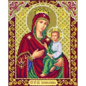 Богородица Скоропослушница Набор для частичной вышивки бисером Паутинка