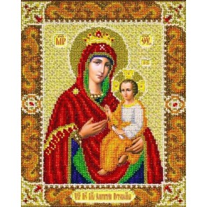 Богородица Одигитрия - Путеводительница Набор для частичной вышивки бисером Паутинка