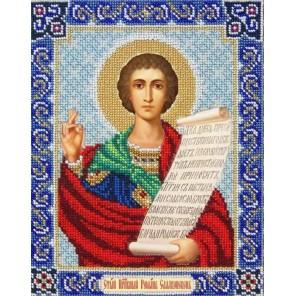 Святой Роман Набор для частичной вышивки бисером Паутинка