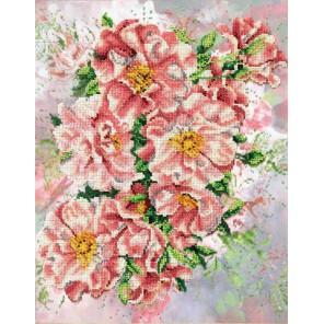 Садовые розы Набор для частичной вышивки бисером Паутинка
