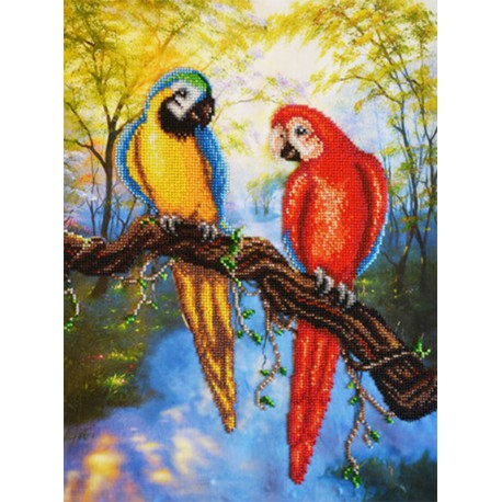 Наборы для вышивания бисером - папугаи сделано своими руками