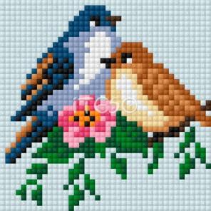 Влюблённые птички Алмазная мозаика на магнитной основе Iteso