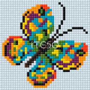 Бабочка Алмазная мозаика на магнитной основе Iteso