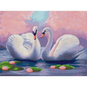 Лебеди Алмазная мозаика на твердой основе Iteso