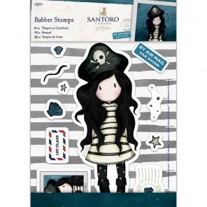 Пиратка  Набор штампов коллекционных на резиновой основе для скрапбукинга, кардмейкинга Santoro's Gorjuss