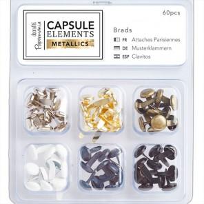 Elements Metallics Брадсы Набор для скрапбукинга, кардмейкинга Docrafts