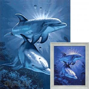 Свидание дельфинов Алмазная вышивка мозаика Гранни