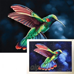 Тропическая птичка Алмазная вышивка мозаика Гранни