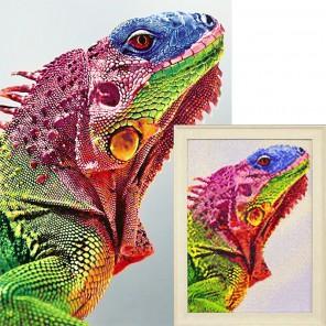 Игуана Алмазная вышивка мозаика Гранни