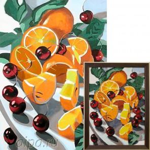 Апельсины и вишни Алмазная вышивка мозаика Гранни