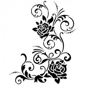 Розы уголок Трафарет пластиковый Viva Decor