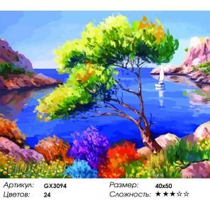 Живописная лагуна Раскраска картина по номерам на холсте