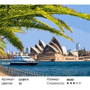 Количество цветов и сложность Сиднейский театр Раскраска картина по номерам акриловыми красками на холсте