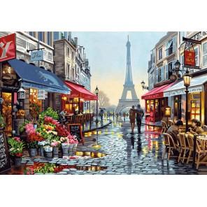 Цветочный магазин в Париже Раскраска картина по номерам акриловыми красками Dimensions