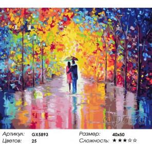 Наедине в осеннем парке Раскраска картина по номерам акриловыми красками на холсте