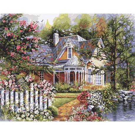 Викторианский сад 21676 Раскраска по номерам акриловыми красками Plaid