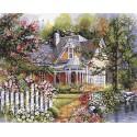 Викторианский сад Раскраска по номерам акриловыми красками Plaid