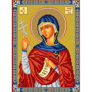 Святая Маргарита Набор для частичной вышивки бисером Вышиваем бисером