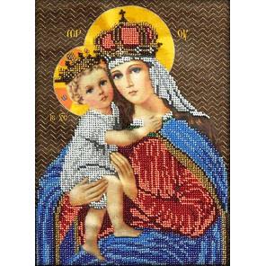 Мария с младенцем Набор для частичной вышивки бисером Вышиваем бисером