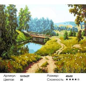 Памятный мостик Раскраска картина по номерам на холсте