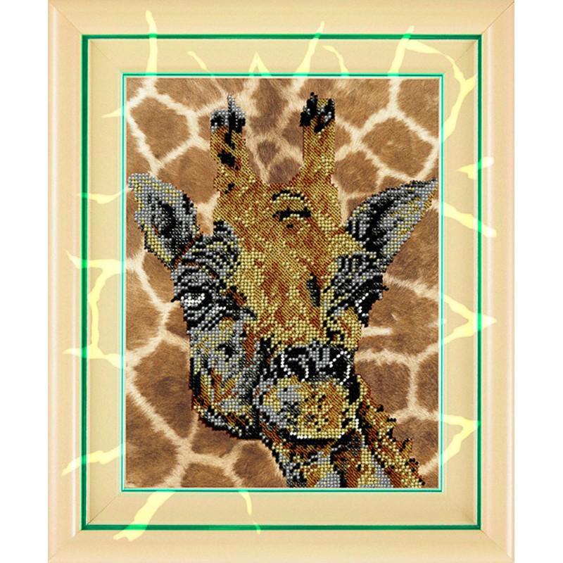 Вышивка бисером жирафа