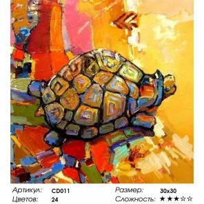 Количество цветов и сложность Черепаха удачи Раскраска картина по номерам акриловыми красками на холсте Color Kit