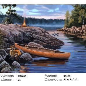 Количество цветов и сложность На пикнике Раскраска картина по номерам акриловыми красками на холсте Color Kit