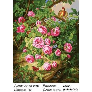 Количество цветов и сложность Певчая птица Раскраска картина по номерам акриловыми красками на холсте