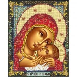 Богородица Корсунская Набор для частичной вышивки бисером Русская искусница